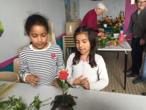 IMG 5640 300x225 de lart floral à lécole !