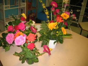 IMG 7074 300x225 de lart floral à lécole !